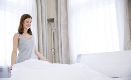 clean bedding helps maintain good health