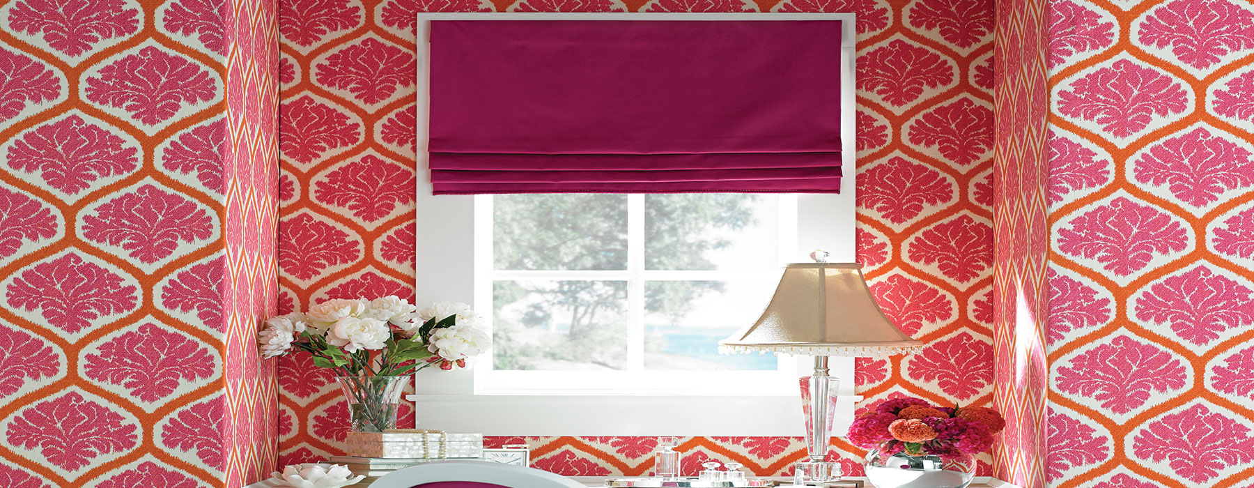 Expertly installed Roman Shades